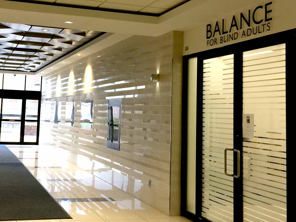 The BALANCE office front doors