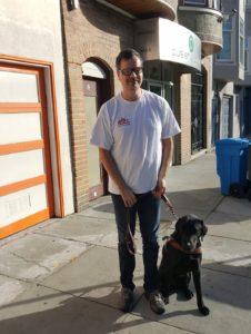 Martin Courcelles and Dog Nashville