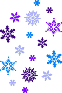 image of snowflakes in purple and blue colours