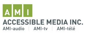 AMI logo which says Accessible Media Inc., AMI-tv, AMI-audio, , AMI-tele