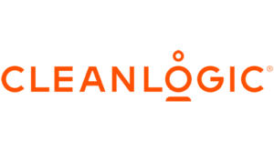 """Cleanlogic logo. Text: Cleanlogic; written in orange, with an orange dash below the """"o"""" and a dot above the """"o"""""""